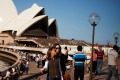 Tourists at Sydney Opera House.