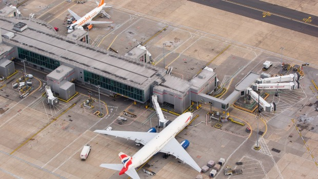 Travellers can get to London's Gatwick Airport via the Gatwick Express.