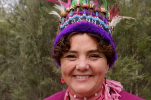 Queen Beanie: Jo Nixon at the Festival of the Beanie, Alice Springs.