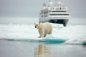 Silversea's Silver Explorer in the Arctic Circle.