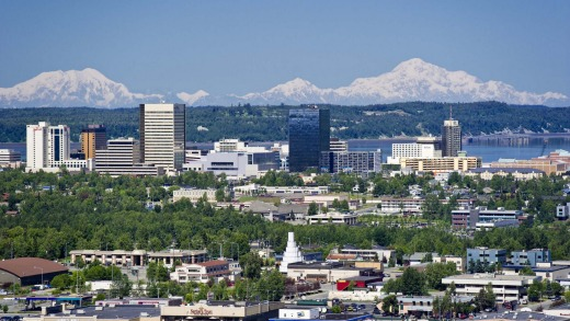 Anchorage from above.