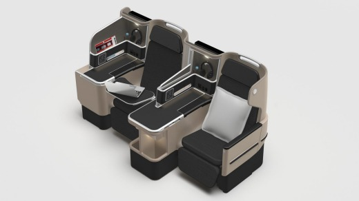 The new 'Business Suite' on Qantas's Boeing 787 Dreamliners.