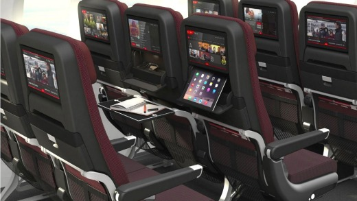 The new economy seats on Qantas's Boeing 787 Dreamliners. Would you sit here for 17 hours?