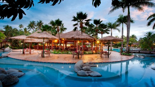 The pool at Outrigger Fiji Beach Resort.