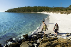 One of Maria Island's sweeping bays.