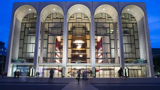 The Metropolitan Opera house at New York's Lincoln Centre.