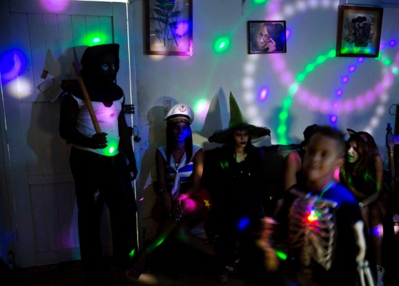 A  Halloween party at a home in Havana, Cuba,.