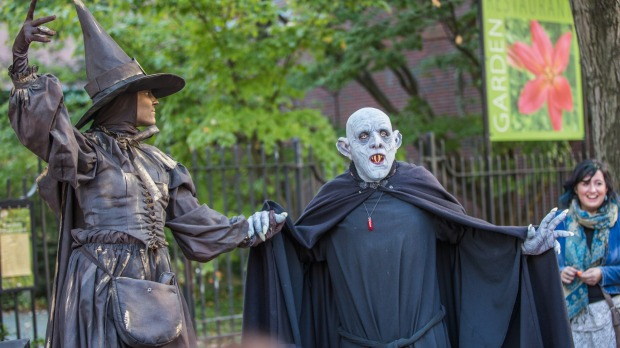 Haunted Happenings in Salem during Halloween.