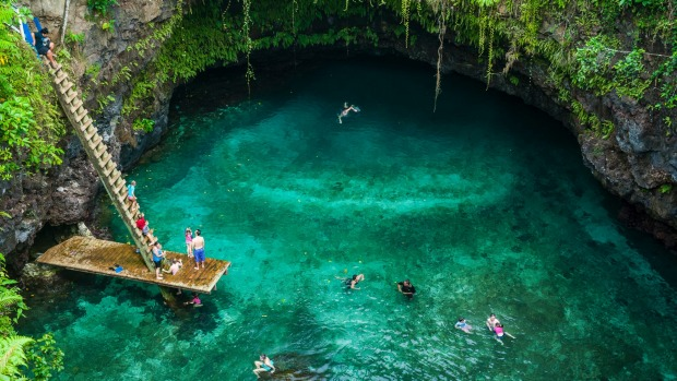 Otherworldly To Sua Ocean Trench In Upolo Samoa