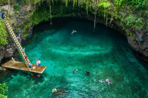 Otherworldly: To Sua ocean trench in Upolo, Samoa.