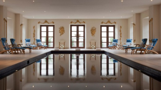 Ballyfin's palatial indoor pool.