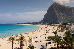 The town of San Vito lo Capo in Sicily.