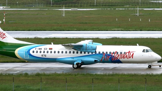 The finished product: An Air Vanuatu ATR72-600.