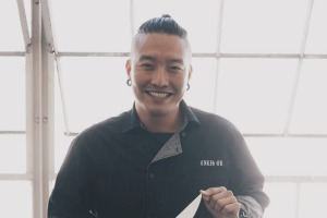 Chef Chris Oh, winner of multiple television competition shows, and a TV personality, author and clothing designer.