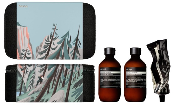Aesop's Christmas packs are new in store.