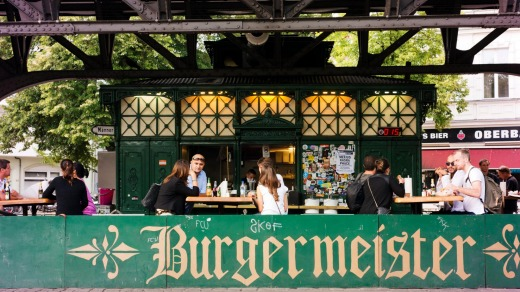Burgermeister, a specialist burger eatery situated in a former public toilet.