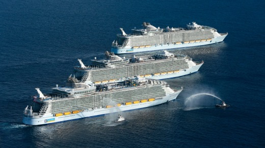 Worlds Biggest Cruise Ships Royal Caribbeans Three Giants - Largest cruise ship in the world