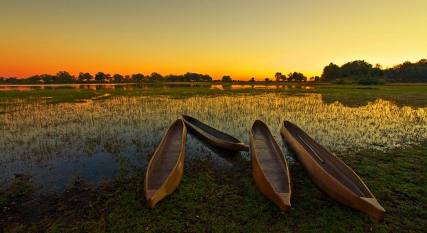 Sunrise over the Okavango Delta, Botswana.
