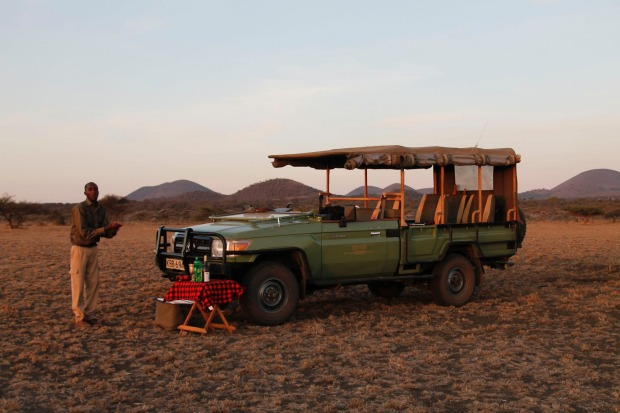 Four-wheel-drive safari tour.