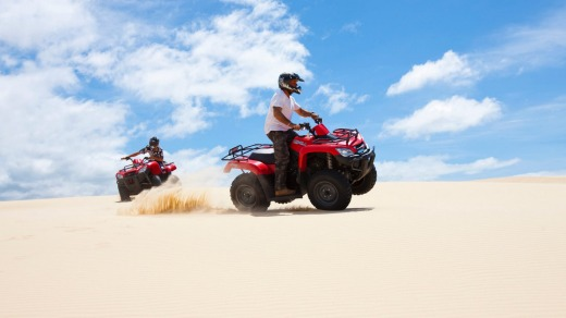 Riding the dunes.