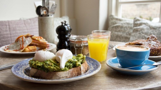 There's an eggstravagant range of egg-based dishes at Egg Break in Notting Hill.