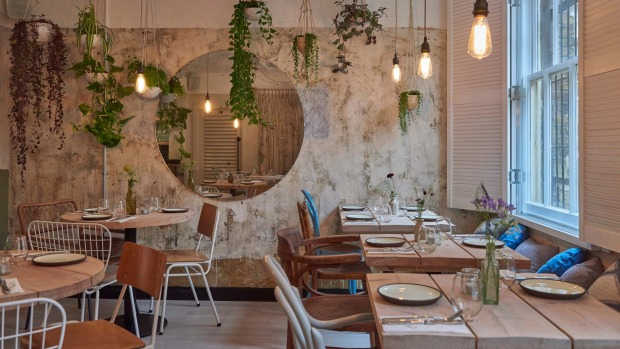 The Garden Room at Strut & Cluck Restaurant, London.