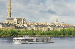 Scenic river cruise through Bordeaux.