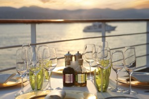 Experience sunset cuisine on Silversea.