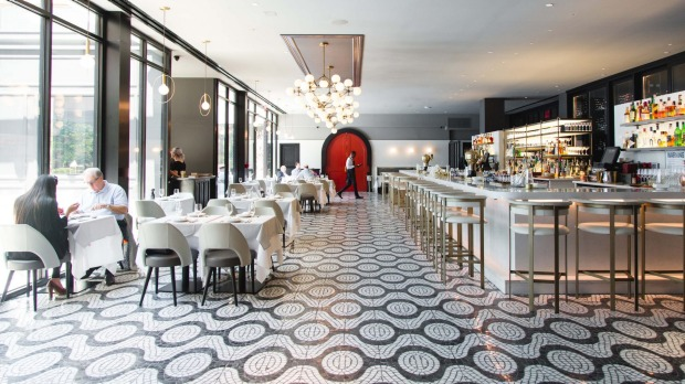 La Sirena trattoria at the Maritime Hotel in Chelsea, New York City.