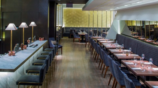Indian Accent restaurant in Le Parker Meridien hotel.