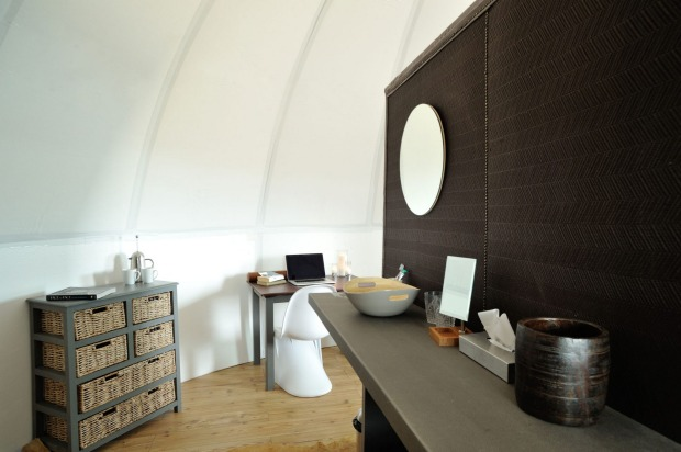 White Desert camp, Antarctica. All pods have an ensuite.