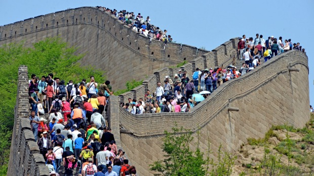 Some parts of China are very crowded, but others are almost empty.