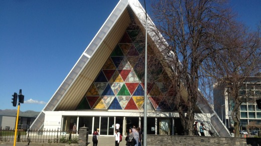 The Transitional Cathedral in Christchurch, also known as the Cardboard Cathedral, was built after the original ...