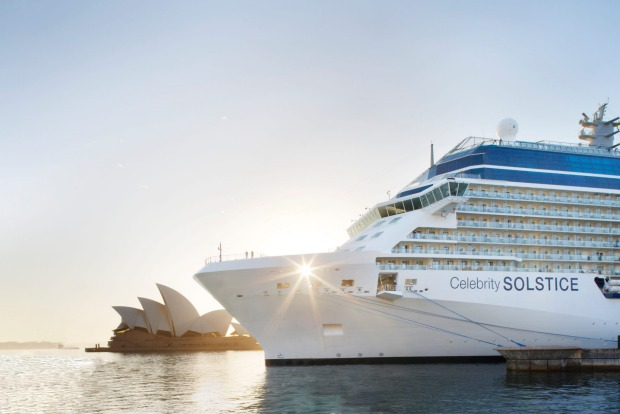 Celebrity Solstice in Sydney Harbour.