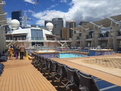 The outdoor pools, Celebrity Solstice.