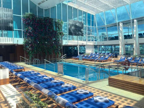 The solarium pool, Celebrity Solstice.