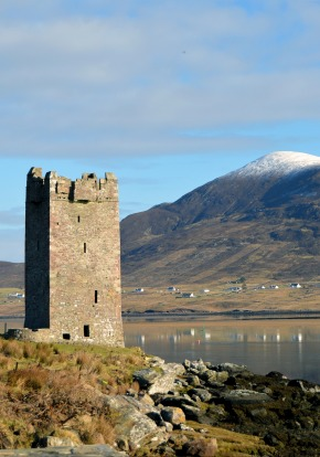 Old stone tower in Ireland