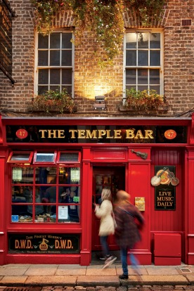 Dublin's iconic Temple Bar.