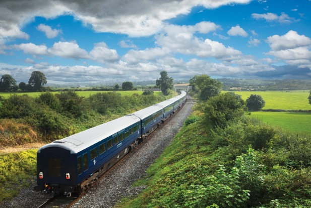 the Belmond Grand Hibernian on the line to Cork south of Buttevant, Co Cork.
