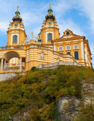 The church and monastery of Melk in Lower Austria.