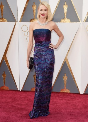 Naomi Watts at the  Academy Awards this year.
