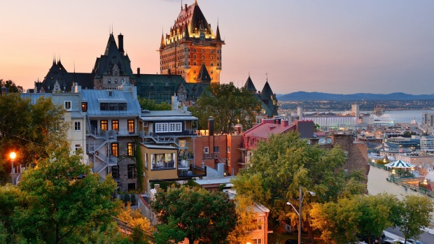 The fairy-tale-like Chateau Frontenac casts its spell over Quebec City.