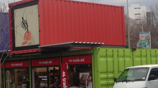 Green shoots: The Re:START Mall, made up of shipping containers.