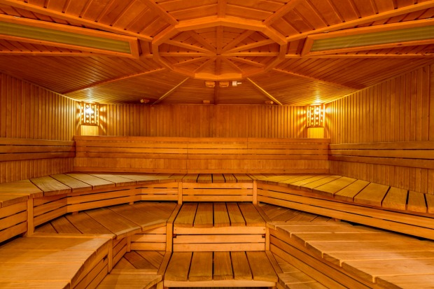 Sauna at Kaifu-Bad, Hamburg.