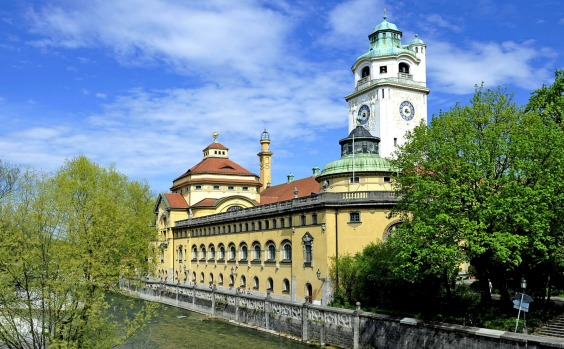 Exterior of Muller'sches Volksbad, Munich.