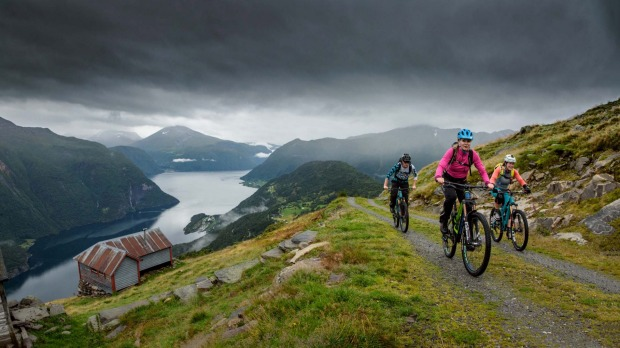 Mountain biking in Norway with H+I Adventures.