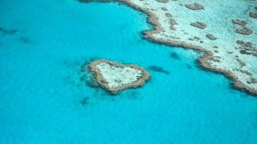 Heart Reef on the Great Barrier Reef.