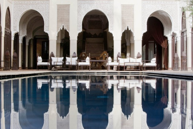 The swimming pool at Villa des Orangers in Marrakesh.