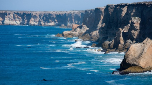 The Bunda cliffs form the southern edge of the Nullarbor Plain.