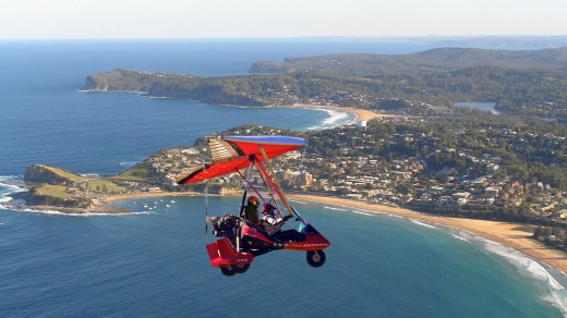 Taking in the views with Microlight Adventures.